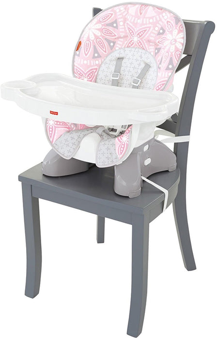 Fisher-Price Space-Saver High Chair, Pink