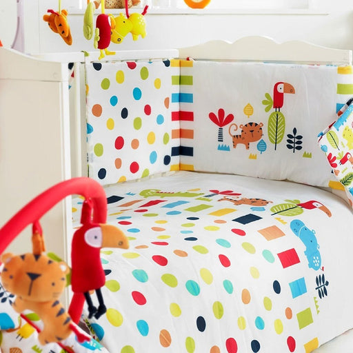 Red Kite Baby Cosi Cot 4 Piece Bedding Set, Safari