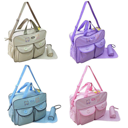 XXL 3 Piece Baby Nappy Changing Bag Colour: Beige Tote Bag Diaper Bag Travel Multiple Colours