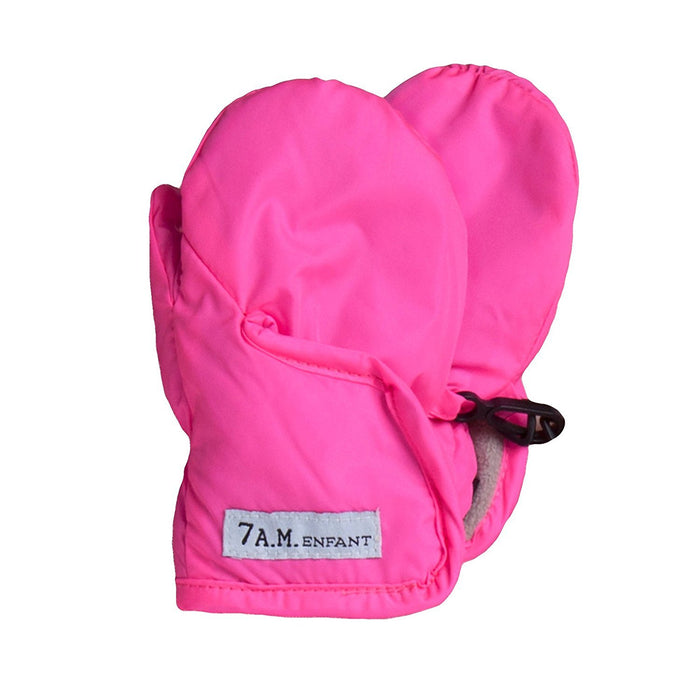7AM Enfant Classic Mittens 212, Neon Pink, Large