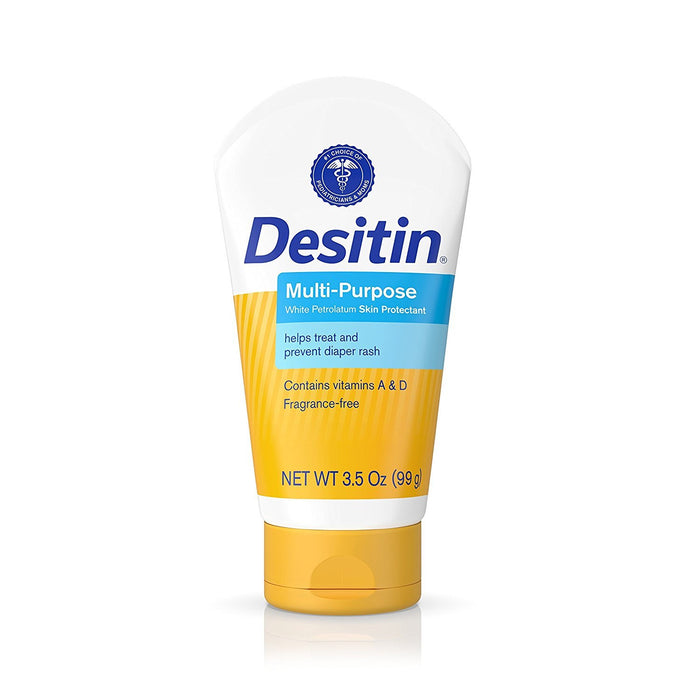 Desitin Skin Protectant and Diaper Rash Ointment Multi-Purpose With Vitamins A & D,  Travel Size, 3.5. Oz Tube