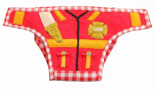 Silk Road Bazaar The Firefighter Diaper Cover, Red/Yellow/Green