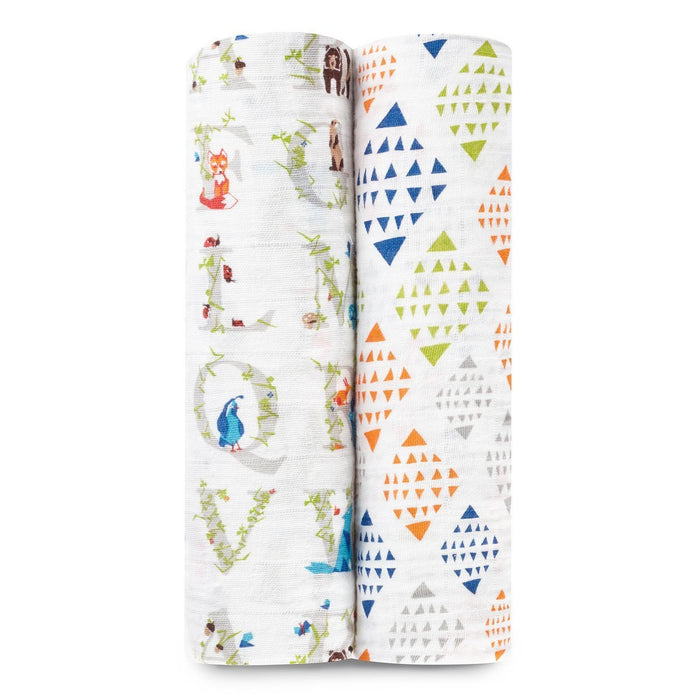 aden + anais Classic Swaddle (Paper Tales, Pack of 2)