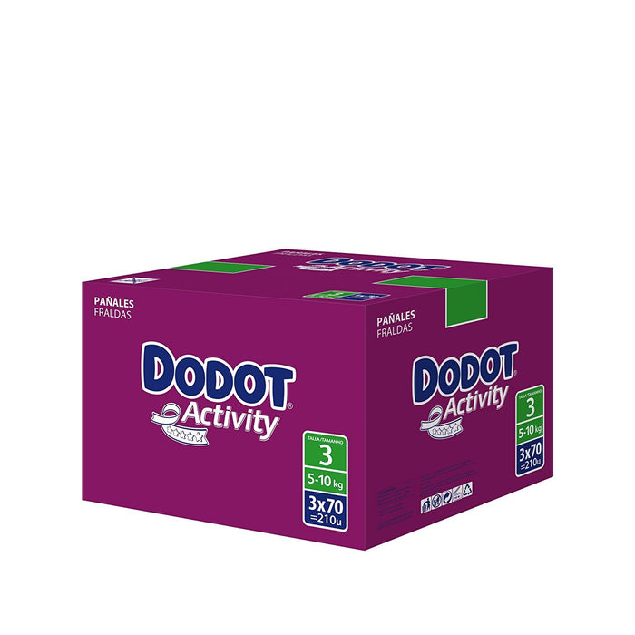 Dodot Activity - Nappies - Size 3 (4-10 kg) - 7 x 30 Nappies