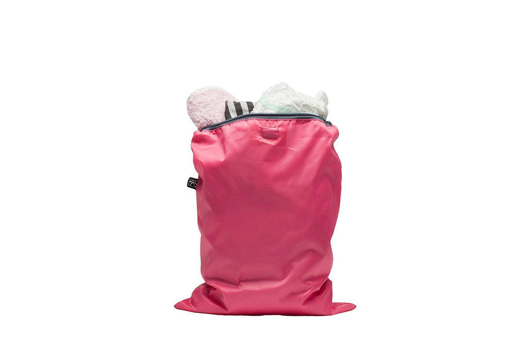 J.L. Childress Wet Bag, Pink/Grey, 2 Count