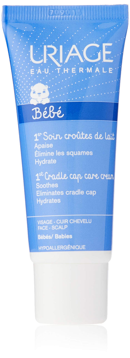 Uriage Cradle Cap Skincare Soothing Regulating Cream for Babies, 40 ml