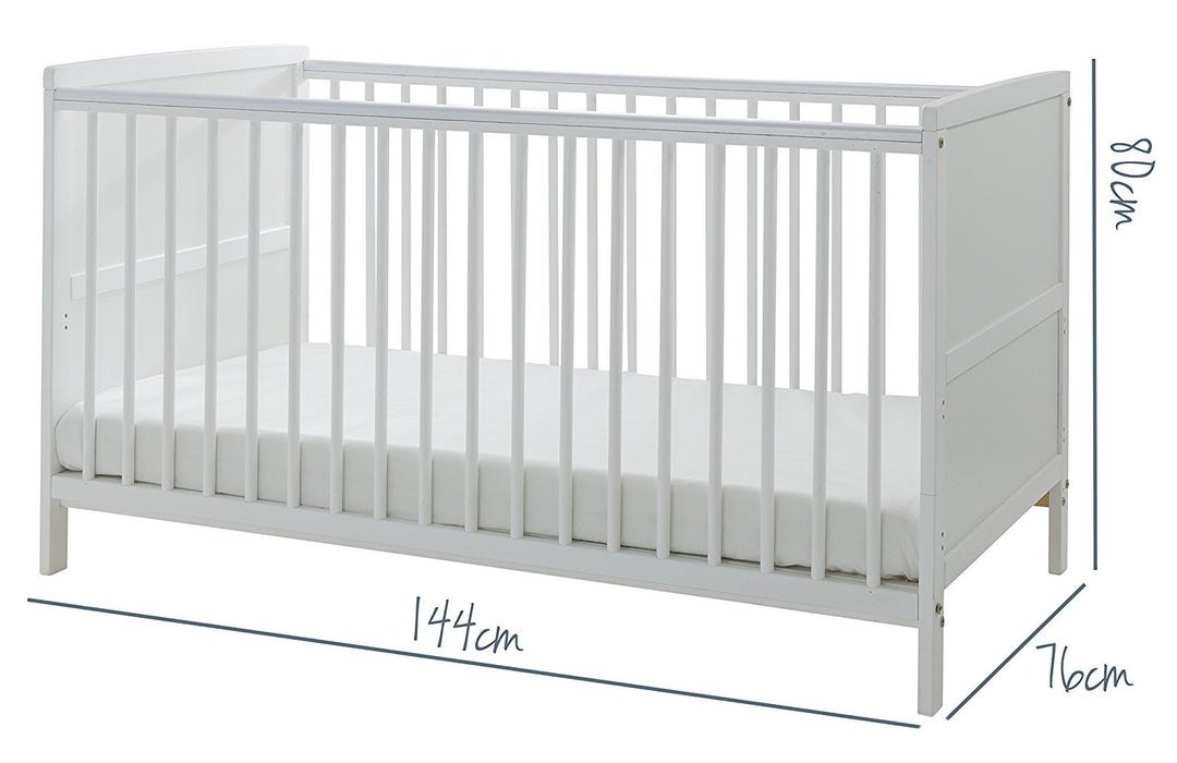Kinder Valley Solid Pine Wood 2 In 1 Junior Cot Bed With A Flow