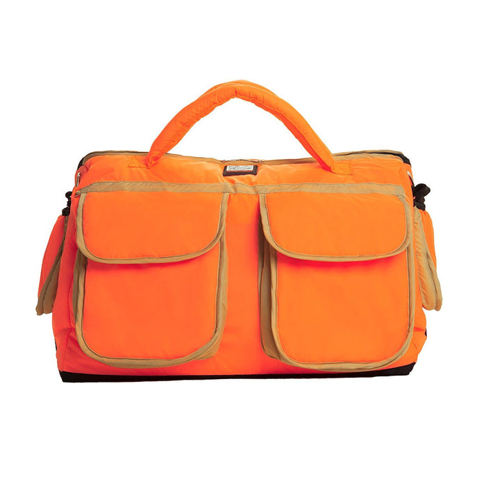 7AM Enfant Voyage Diaper Bag, Neon Orange/Beige, Small