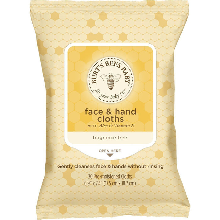 Burt's Bees Baby Face and Hand Cloths, 1.97 Pound