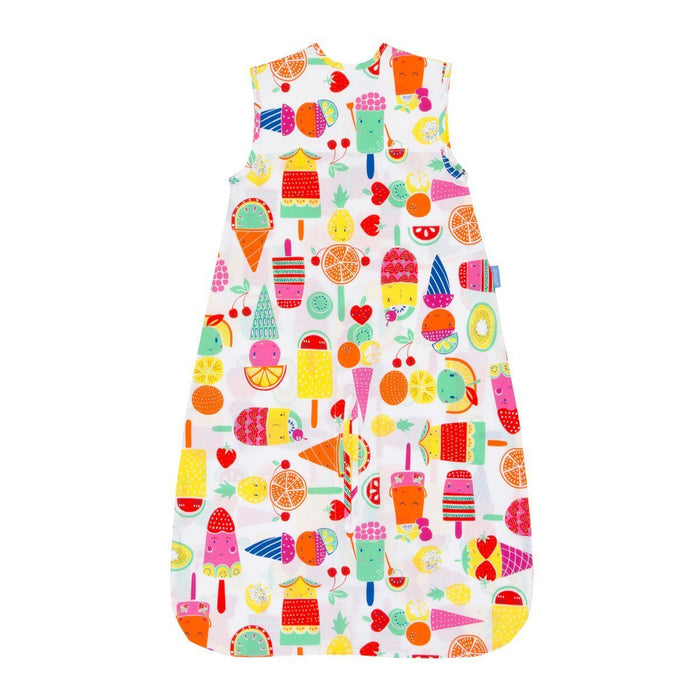 The Gro Company Fruit Cocktail 18-36 Months, 0.5 Tog Extra Cool Travel Grobag with Fabric Carry Bag