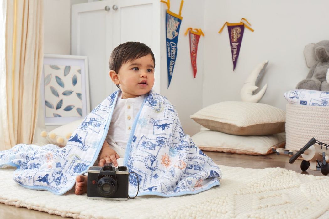 aden + anais Organic Dream Blanket (Warrior Finn)