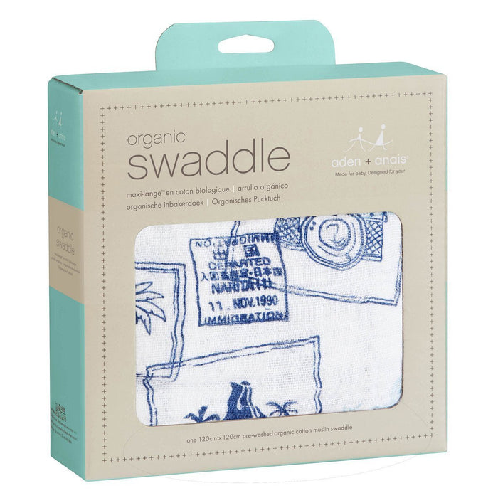 aden + anais Organic Swaddle (Warrior Finn Travel, Single)