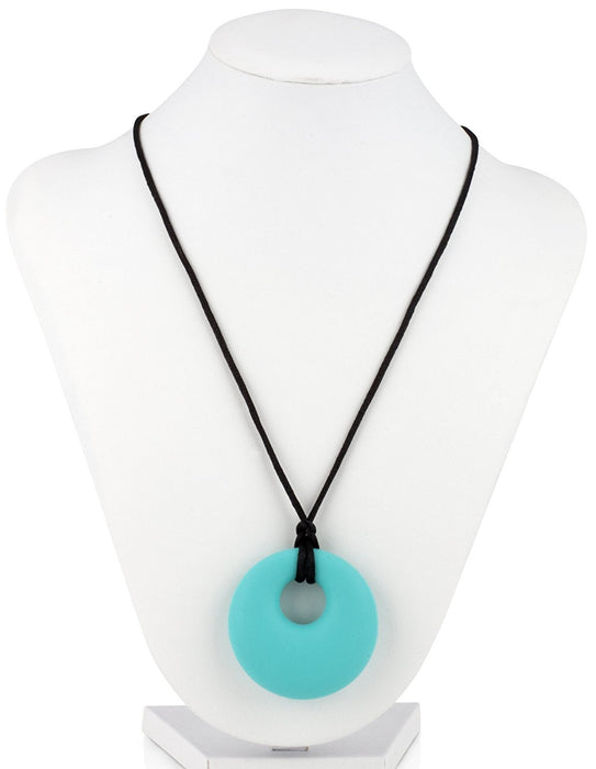 Nuby Teething Trends Hanging Pendant Teething Necklace - Aqua