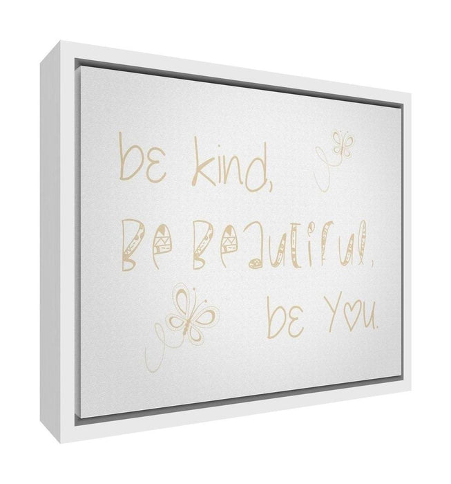 Feel Good Art Framed Box Canvas with Solid White Wooden Frame in ...