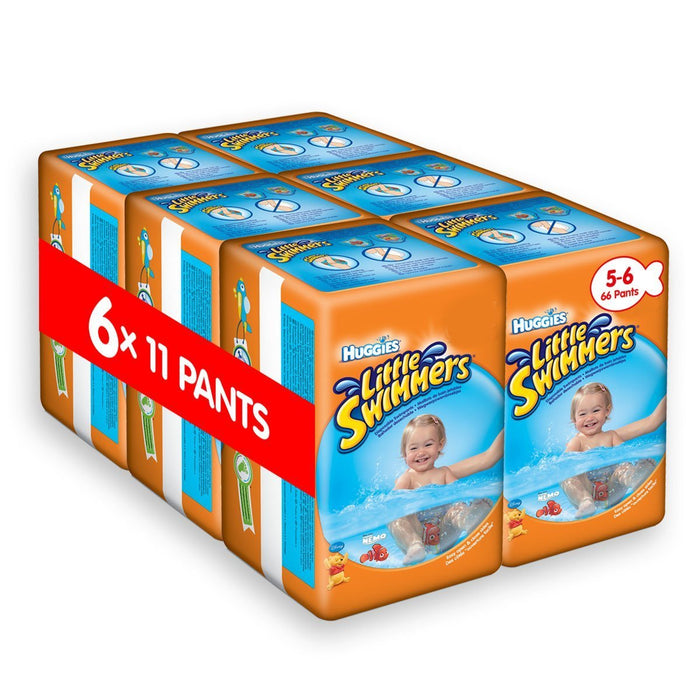 Huggies Little Swimmers Disposable Swim Nappies, Size 5-6 - 66 Pants Total