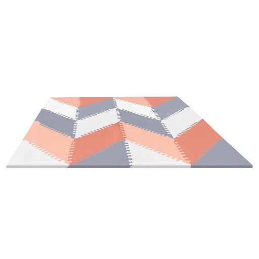 Skip Hop Geo Playspot Foam Floor Tile Playmat, Grey/Peach