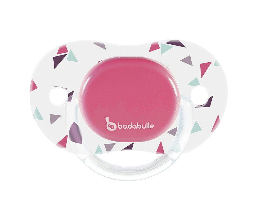 Badabulle B011004 Rotating Dummy - Confetti x 2 Silicon Case/Cover - 6 - 12 Months Pink