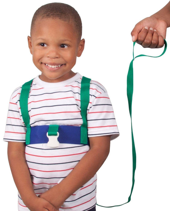 Leachco Ride 'N Stride 2-Way Safety Harness, Green and Blue