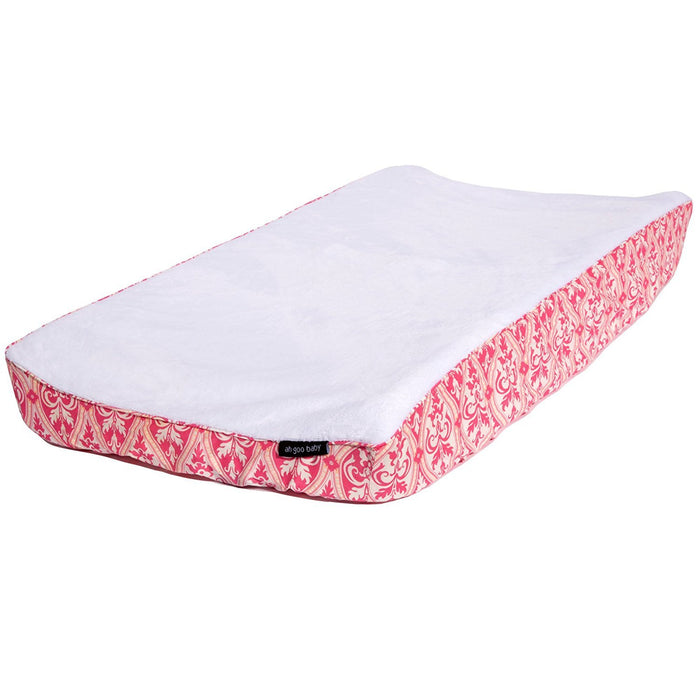 Ah Goo Baby 100% Cotton Changing Pad Cover, Universal Size, Charleston Pattern