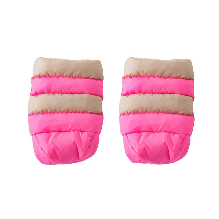 7AM Enfant Stroller WarMMuffs for Parents and Caregivers, Beige/Neon Pink