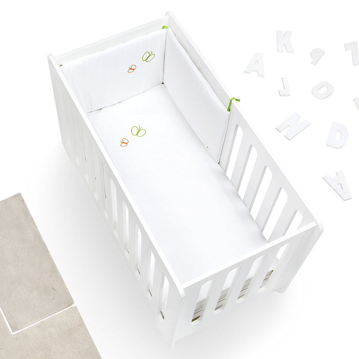 Alondra 9l2 N-251 - Set Nordic and Protector, Cot 60 x 120 cm, 2 Pieces, White Pique