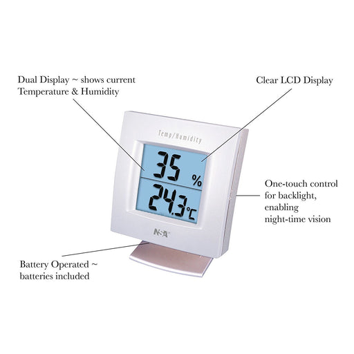 NSAuk Digital Hygrometer/Thermometer