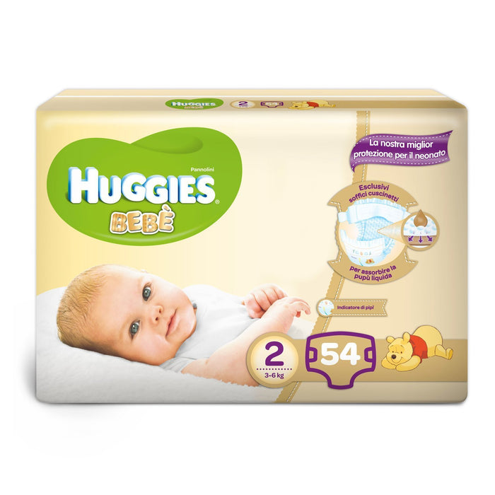 Huggies - Bebè - Nappies - Size 2 (3 - 6 kg) - 56 Nappies