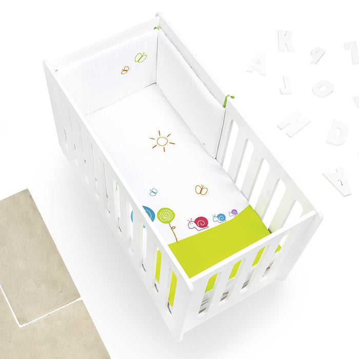 Alondra 9L2 - 251 - Set Quilt and Protector, Cot 60 x 120 cm, 2 Pieces, Green