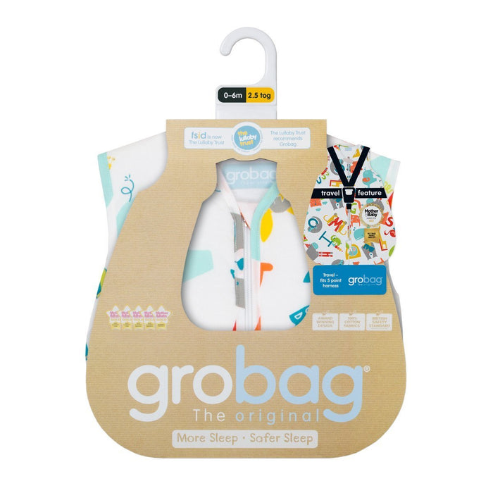The Gro Company E is for Elephant 0-6 Months, 2.5 Tog Grobag Baby Sleep Bag