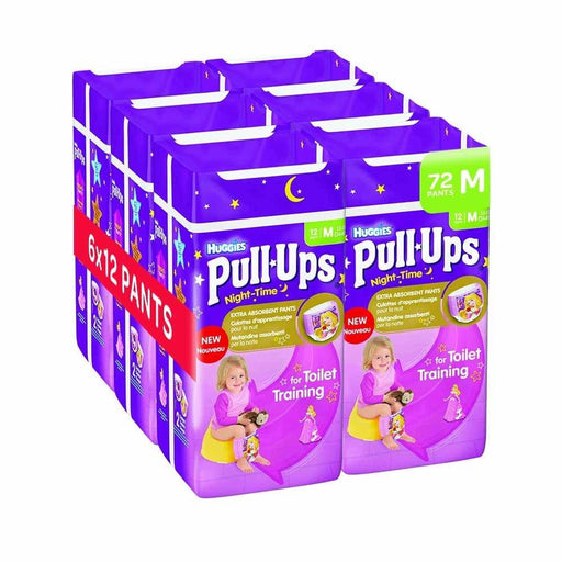 Huggies Pull Ups Night Time Potty Training Pants for Girls - Medium, 72 Pants