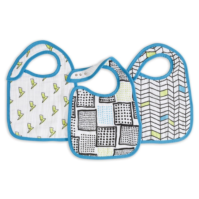 aden + anais Classic Snap Bib (Whiz Kid, Pack of 3)
