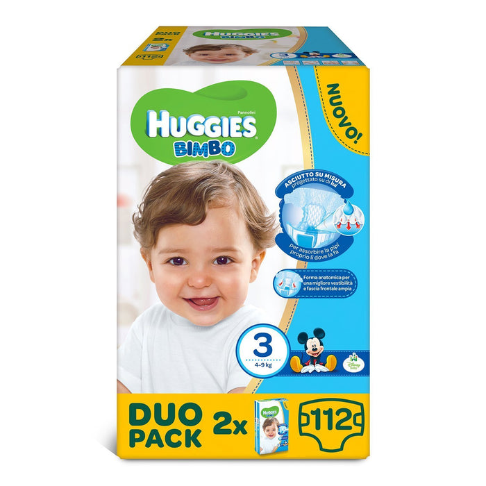 Huggies - Bimbo - Nappies - Size 3 (4 - 9 kg) - 2 x 56 Nappies