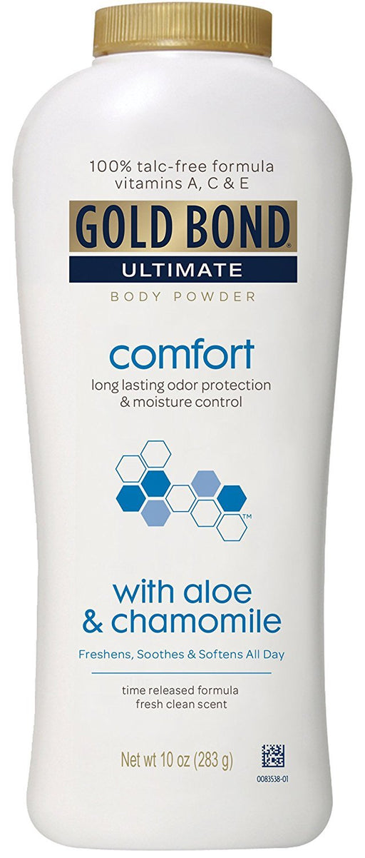 Gold Bond Ultimate Comfort Body Powder, Aloe, 10 Ounce Bottles (Pack of 3)