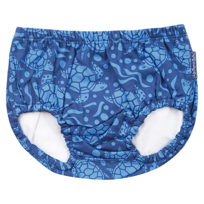 JoJo Maman Bébé B2748BTU36 Swimming Briefs with Turtle Design Blue