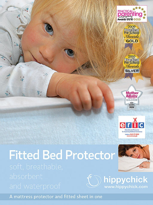Hippychick Mattress Protector Fitted Sheet, 140 x 190 cm - Double