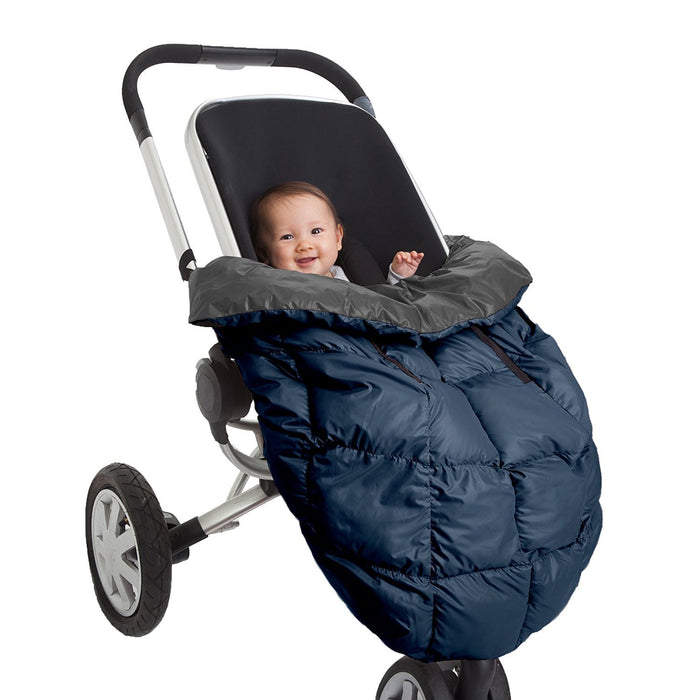 7AM Enfant Cygnet: 3-in-1 Cover for the Baby Carrier, Car-Seat and Stroller, Gray/Midnight Blue