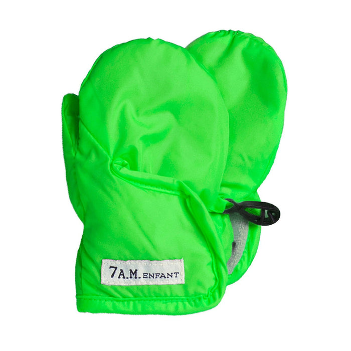 7AM Enfant Classic Mittens 212, Neon Green, X Large