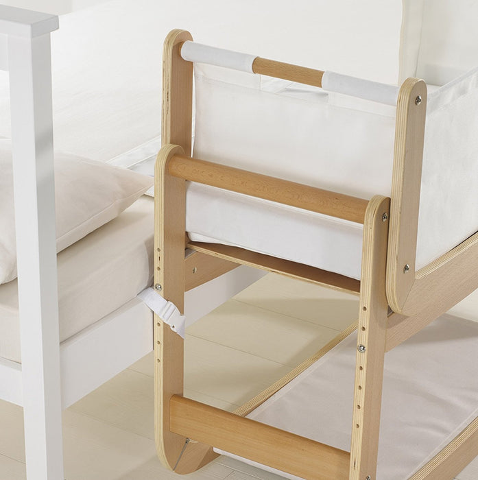 SnuzPod Bedside Crib and Mattress (Natural)