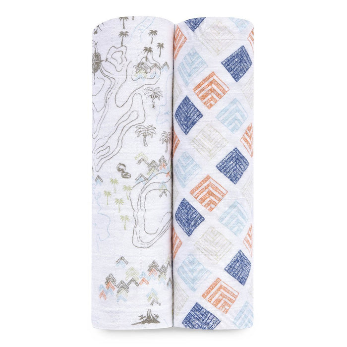 aden + anais Organic Swaddle (Warrior Finn, Pack of 2)