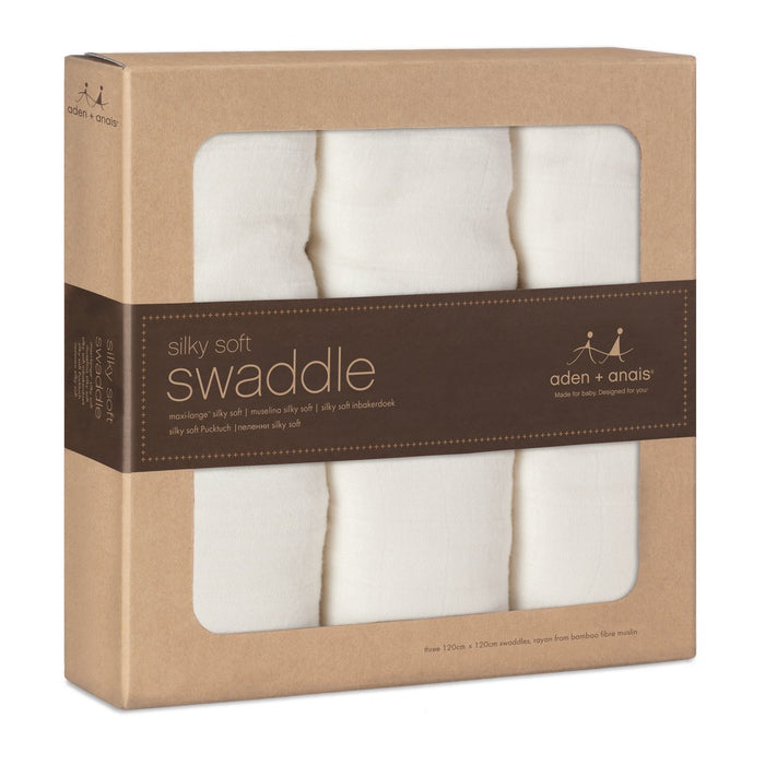 aden + anais 9200G Swaddles Large Pack of 3 Bamboo / Earthy Colours
