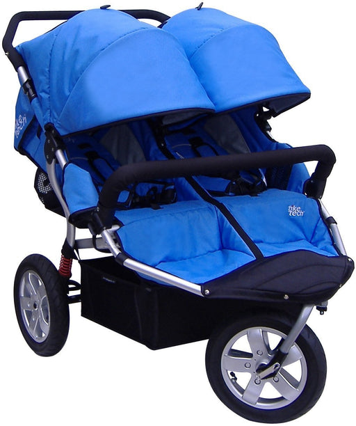 Tike Tech Double City X3 Swivel Stroller, Classic Black