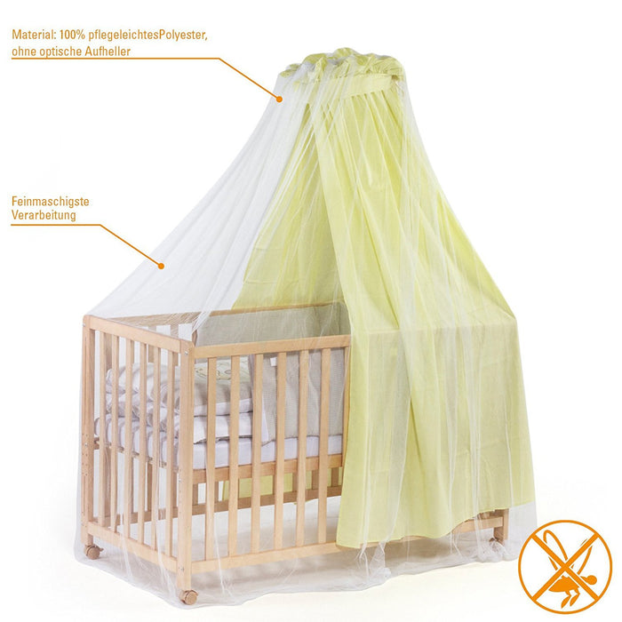 Co-Sleeping Crib 96 x 57 x 76 cm Mosquito net and Carousel Included You /& Me Mattress Picci