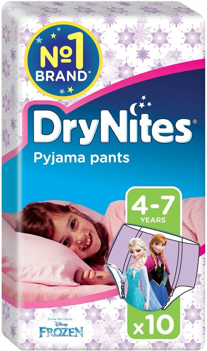 Huggies DryNites Pyjama Pants for Girls, Age 4-7 - 60 Pants Total
