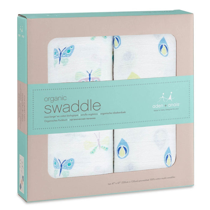 aden + anais Organic Swaddle (Mariposa, Pack of 2)