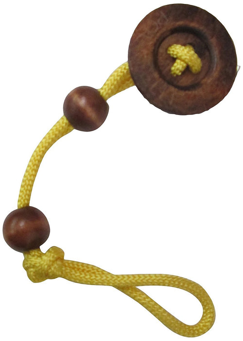 aBaby Big Button Pacifier Clip, Yellow