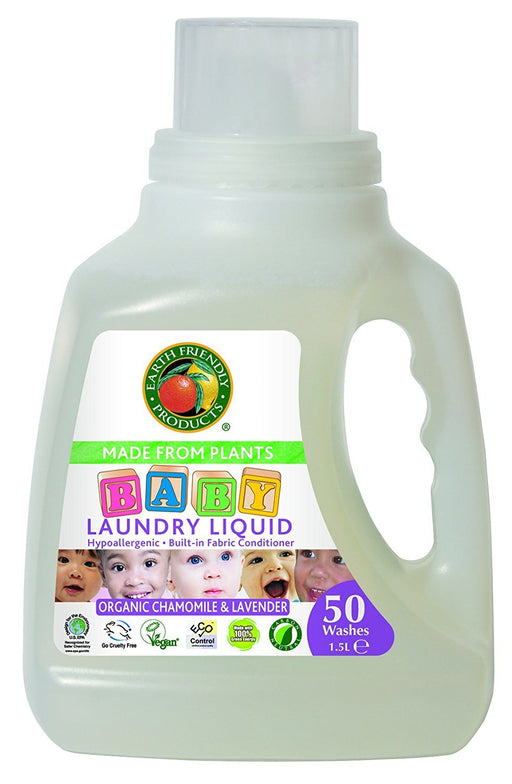Earth Friendly Products Baby Laundry Detergent 50 Washes 1.5 Litres