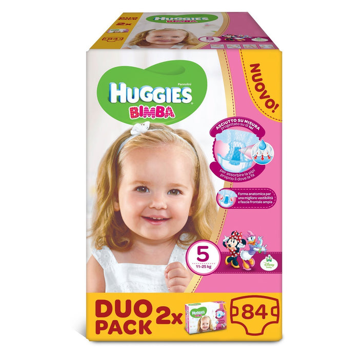 Huggies - Bimba - Nappies - Size 5 (12 - 18 kg) - 2 x 42 Nappies