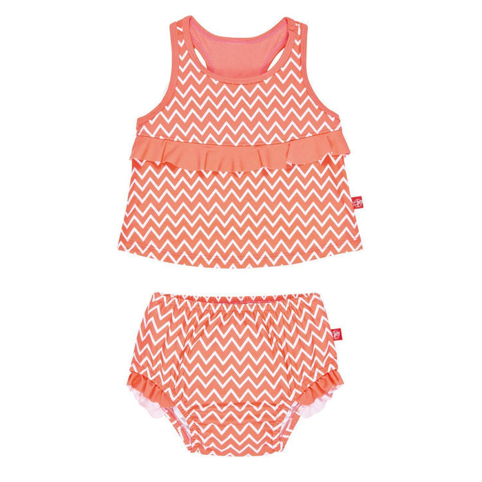 Lassig Tankini Baby Nappies (18 Months, Zigzag, Large, Two-Piece)