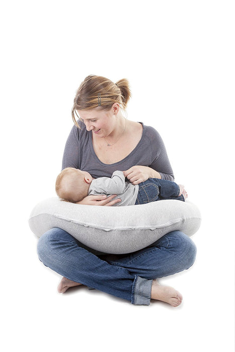 Doomoo Buddy Multi-Use Breastfeeding Pillow (Classic Light Grey)