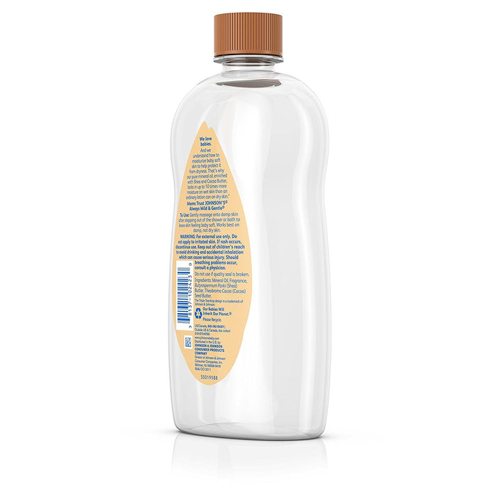 Johnson's Baby Oil With Shea & Cocoa Butter, 20 Fl. Oz